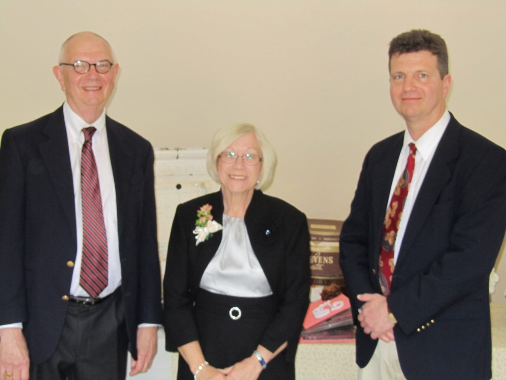 Dad, Helen Seely and I at Matt and Jessica's Wedding - May, 2011