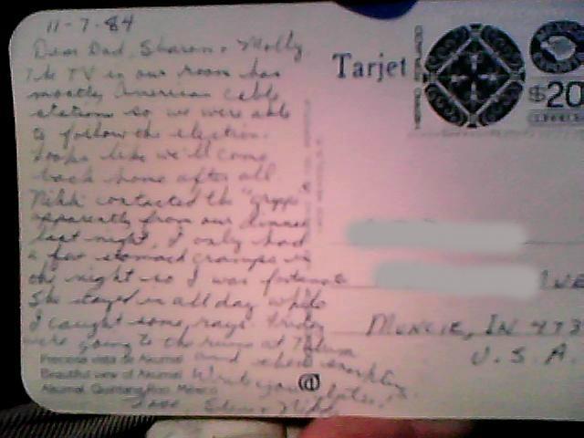 postcard 11-7-84