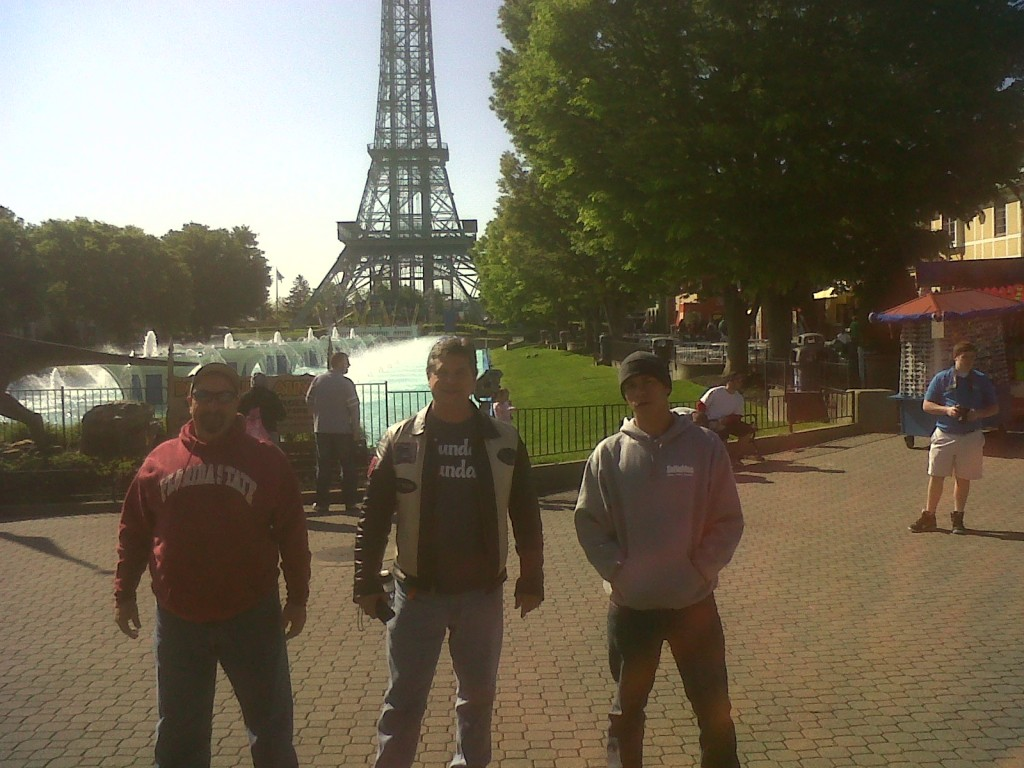 Phil, John and Adam at Kings Island 5-12-2013
