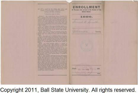 Veteran's Enrollment Form, Samuel B. Smith [Back]
