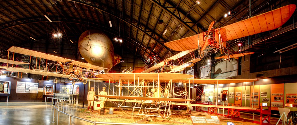 Wright Brothers exhibit at Wright-Patterson National Air Force Museum