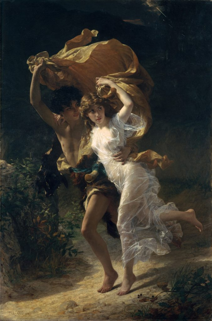 Pierre August Cot - The Storm - 1880. Corsi's image used for both male and female  subject.