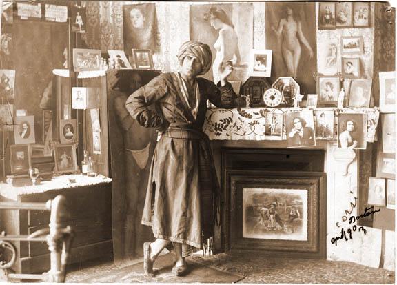Corsi in his studio ca-1900.