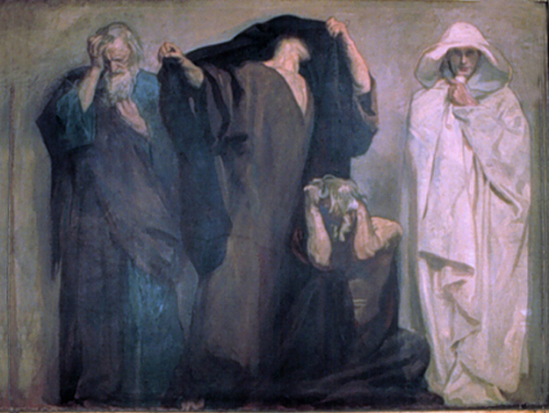 "Sargent's ""Frieze of the Prophets"" – Boston Public Library"""