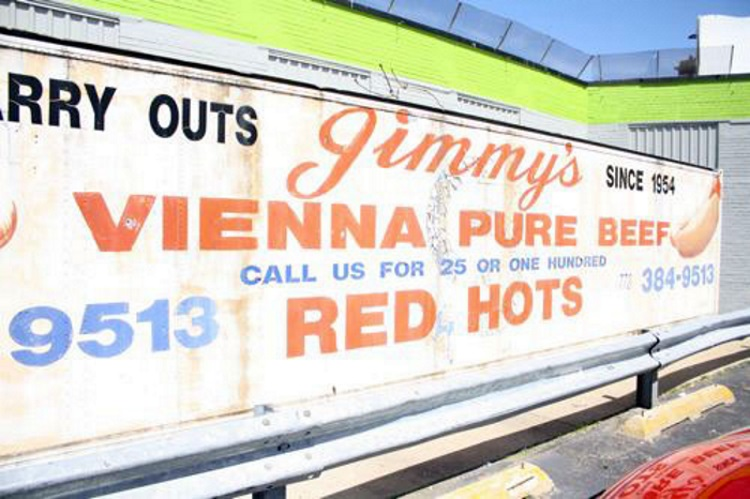 "Jimmy's Red Hots Chicago's West Side ""Best Polishes in Chicago"""