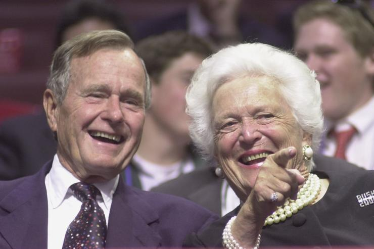 george h. w. and barbara bush